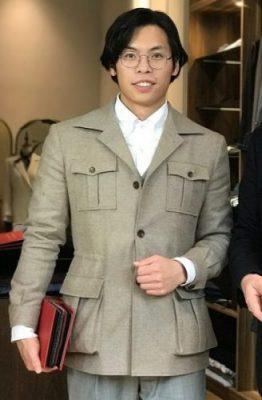 Standeven Oxbridge Flannel Safari-style tailored jacket by Le Suit